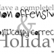 Politically Correct Holiday